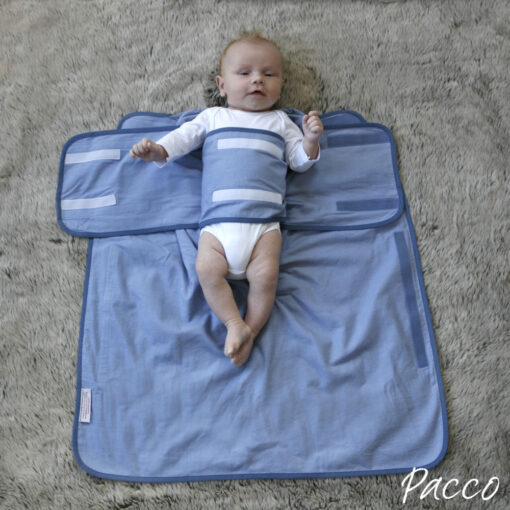 pucktuch f r babys ab 4 7kg pacco piccolo blau pucken mit pacco. Black Bedroom Furniture Sets. Home Design Ideas