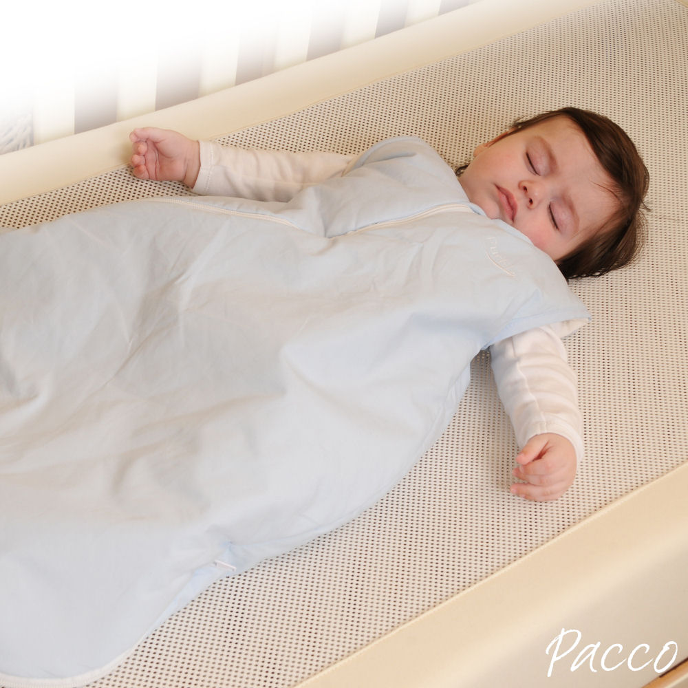 Babyschlafsack Winter PurFlo Abzippbare Ärmel vier Jahreszeiten Hellblau