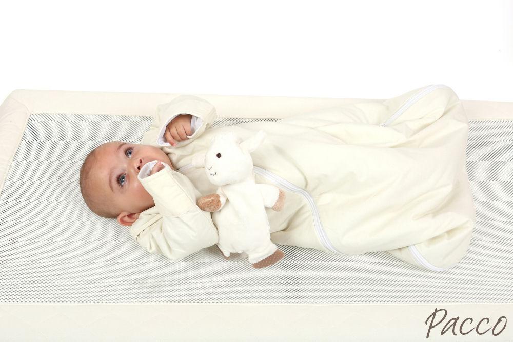 Babyschlafsack Winter PurFlo Abzippbare Ärmel vier Jahreszeiten Jersey cream