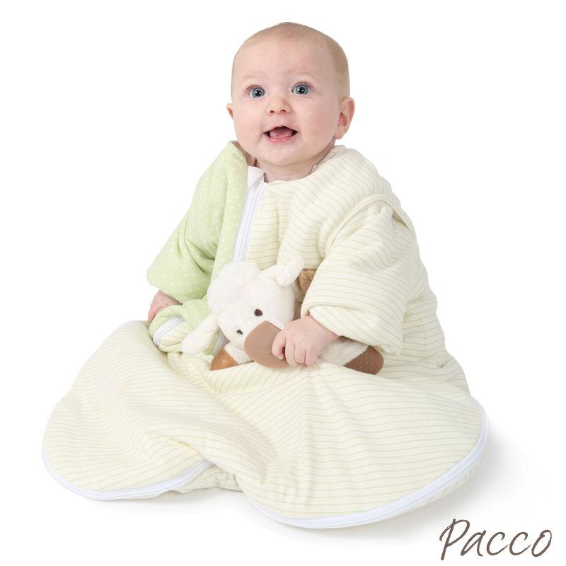 Babyschlafsack Winter Abzippbare Ärmel vier Jahreszeiten grün