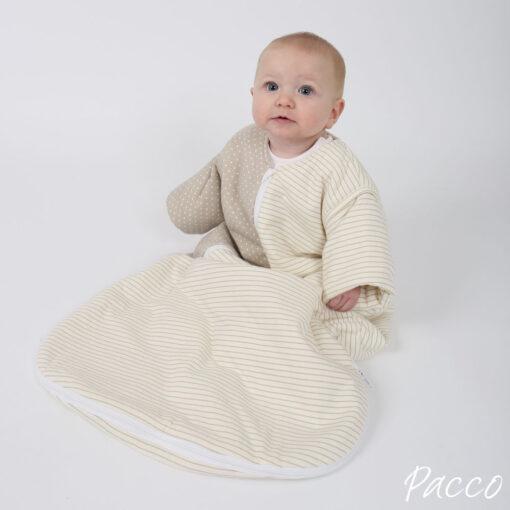 Babyschlafsack Winter PurFlo Abzippbare Ärmel vier Jahreszeiten Jersey