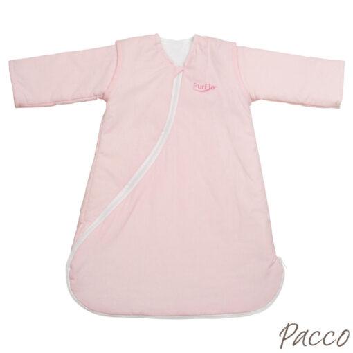 Babyschlafsack Winter Abzippbare Ärmel vier Jahreszeiten rosa