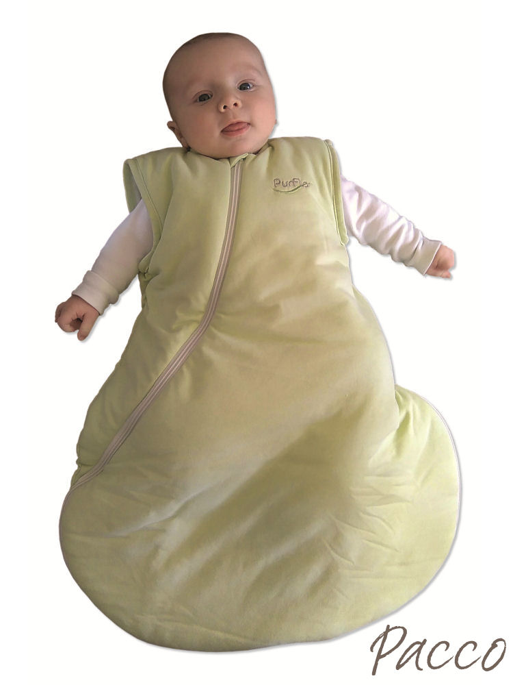 babyschlafsack winter purflo 60cm jersey gr n pucken mit pacco. Black Bedroom Furniture Sets. Home Design Ideas