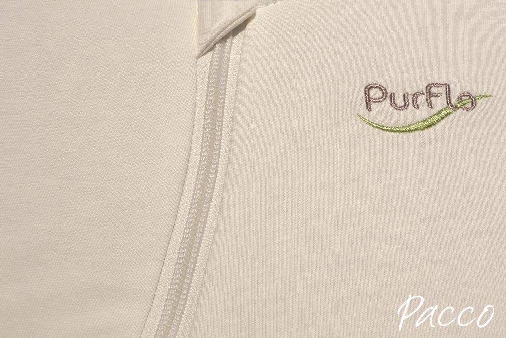 babyschlafsack winter purflo 60cm jersey cream pucken mit pacco. Black Bedroom Furniture Sets. Home Design Ideas